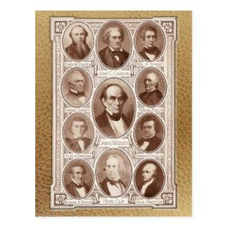 American Statesmen & Orators Postcard