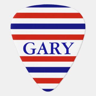 American Striped Personalized Guitar Pick