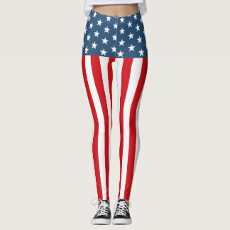American stripy-stripy Leggings