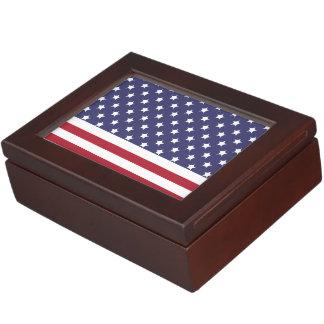 American Style Flag Patriot Design Keepsake Boxes