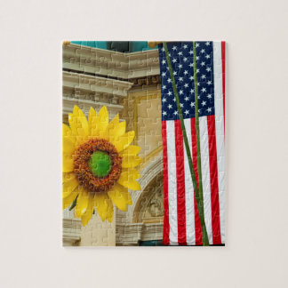 American Sunflower Jigsaw Puzzle