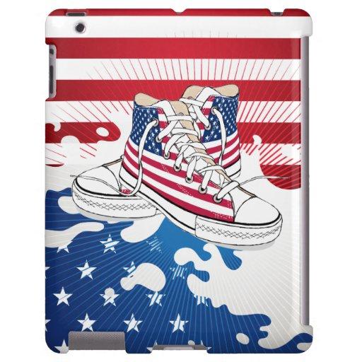 American Teen Kids Patriotic iPad Case