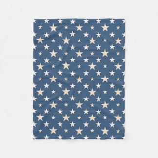 American themed stars fleece blanket