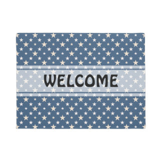 American themed stars pattern doormat