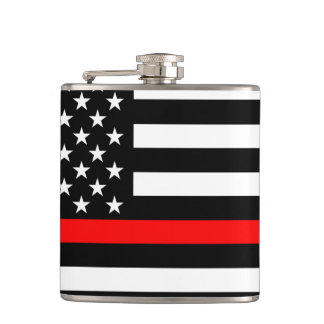American Thin Red Line Graphic Hip Flask