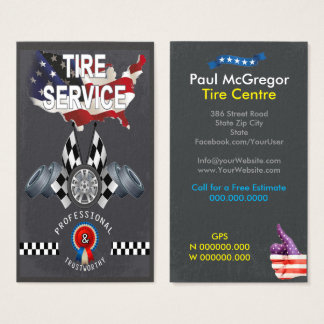 American Tire Centre Business Card