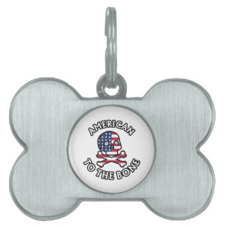 American To The Bone Pet Tag