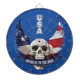 American to the Bone Skull Dartboard