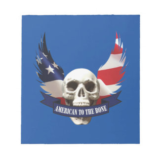 American to the Bone Skull Notepad