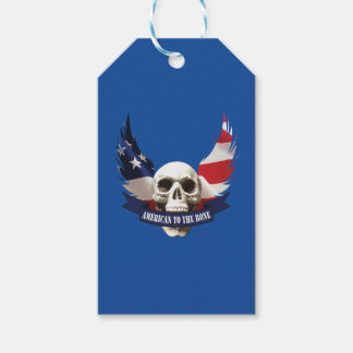 American to the Bone Skull Pack Of Gift Tags