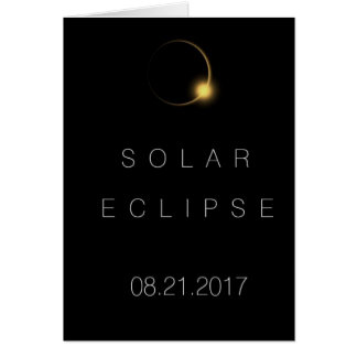 American Total Solar Eclipse  2017 Card