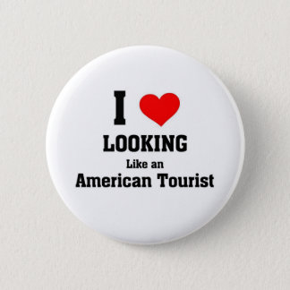 American Tourist 2 Inch Round Button