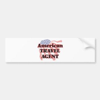 American Travel Agent Bumper Sticker