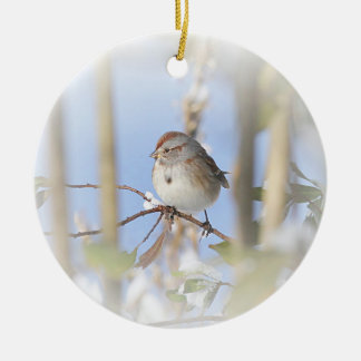 American Tree Sparrow Ceramic Ornament