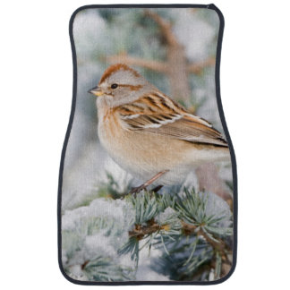 American Tree Sparrow in winter Car Mat