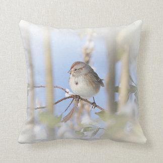American Tree Sparrow Throw Pillow