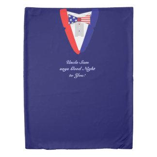 American Tuxedo Bowtie Stars and Stripes Duvet Cover