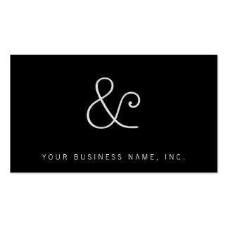 American Typewriter Light Letterpress White Business Card