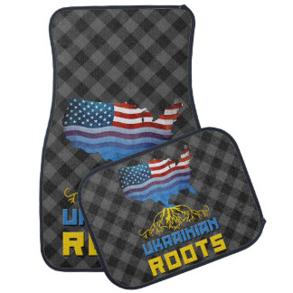 American Ukrainian Roots Car Mat Set