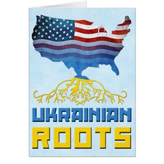 American Ukrainian Roots Greeting Card