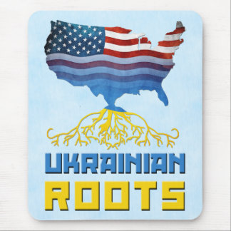 American Ukrainian Roots Mousemat Mouse Pad