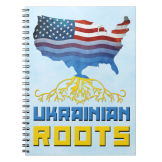 American Ukrainian Roots Notepad Notebook