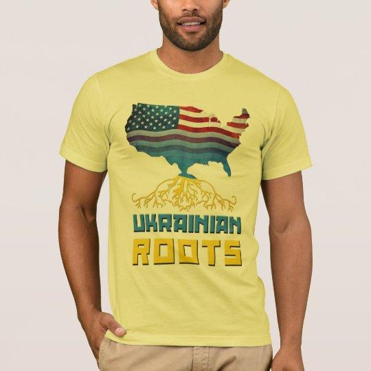 American Ukrainian Roots T-Shirts