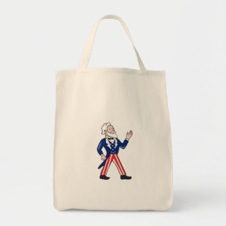 American Uncle Sam Waving Hand Cartoon