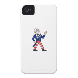 American Uncle Sam Waving Hand Cartoon iPhone 4 Case