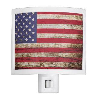 American United States Rustic Flag Nite Lights