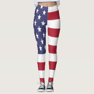 American United States USA Pattern Leggings