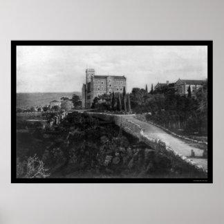 American University of Beirut, Lebanon 1921 Poster