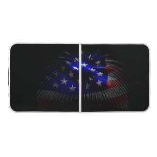 American US Flag Pong Table