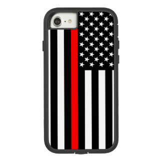 American US Flag Thin Red Line Symbol on a Case-Mate Tough Extreme iPhone 8/7 Case