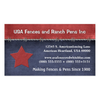 American USA Fencing Patriotic Red White Blue Pack Of Standard Business Cards