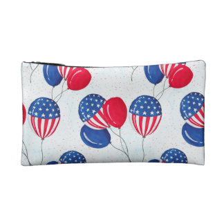 American USA Flag Balloon Patriotic July 4th Cosmetic Bags