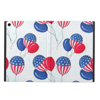 American USA Flag Balloon Patriotic July 4th Cover For iPad Air