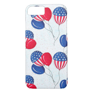 American USA Flag Balloon Patriotic July 4th iPhone 8/7 Case