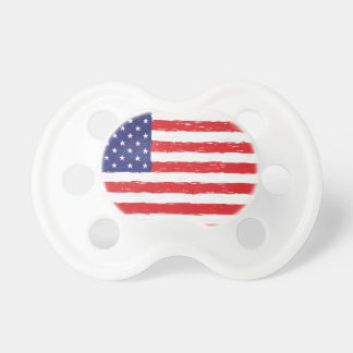 American USA Flag *Hand Sketch* Us Flag Baby Pacifier