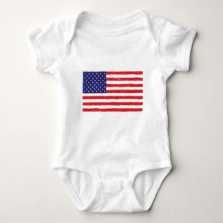 American USA Flag *Hand Sketch* Us Flag Tee Shirts