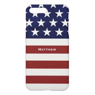 American USA Flag Patriotic July 4th Custom iPhone 8 Plus/7 Plus Case