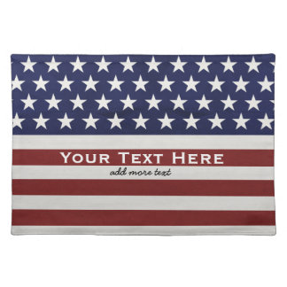 American USA Flag Patriotic July 4th Custom Placemat