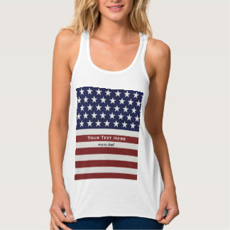 American USA Flag Patriotic July 4th Custom Tank Top