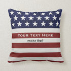 American USA Flag Patriotic July 4th Custom Throw Pillow