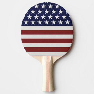 American USA Flag Patriotic July 4th Ping Pong Paddle
