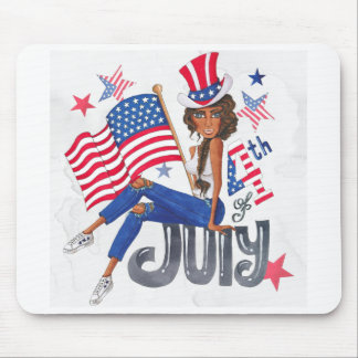 American USA Flag Patriotic July Mouse Pad