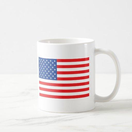 american usa flag red blue white mugs