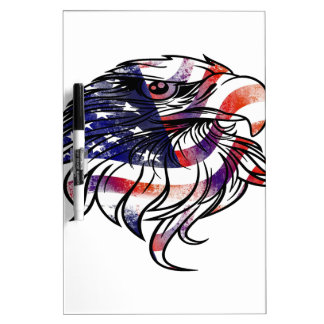 American USA National Flag Eagle Independence Day Dry-Erase Boards