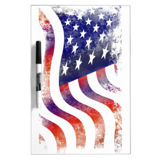 American USA National Flag Independence Day 4 th J Dry-Erase Whiteboard