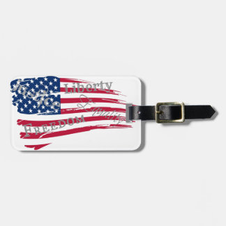 American Values Luggage Tag